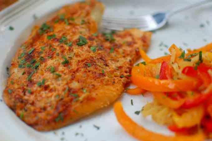 Baked Tilapia Parmesan Fillet | joeshealthymeals.com