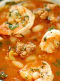 Shrimp and Sausage Stew - you will fall in love with this recipe! This stew is amazingly good and easy to make. | joeshealthymeals.com