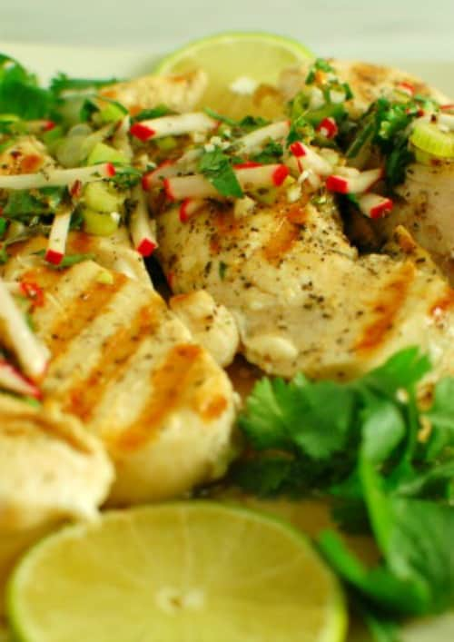 Chicken chimichurri sauce. This is a delicious way to spice up the flavor of grilled chicken. | joeshealthymeals.com