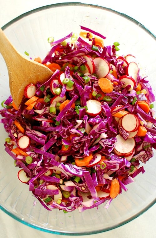 Chopped winter salad. This is a refreshing and tangy salad recipe. Perfect accompaniment to any meal. | joeshealthymeals.com