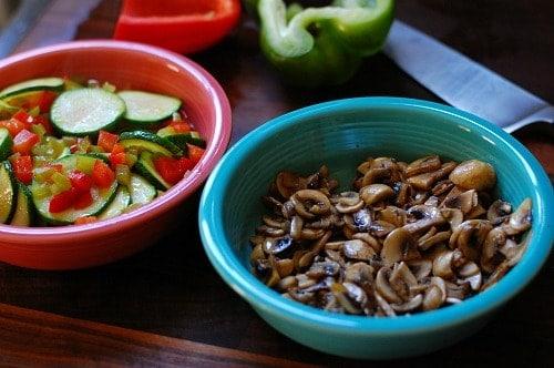 Sauteed mushrooms, peppers, and zucchini. | joeshealthymeals.com