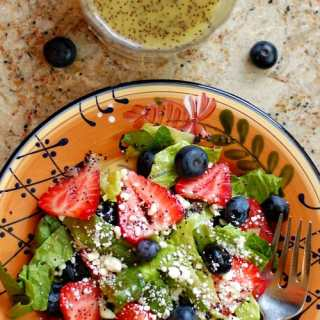 Strawberry Salad with Homemade Poppy Seed Dressing