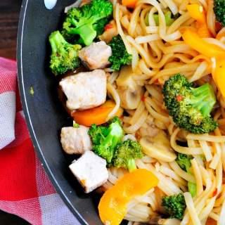 Stir Fried Pork with Rice Noodles