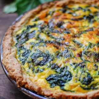 Vegetarian Spinach Potato Quiche