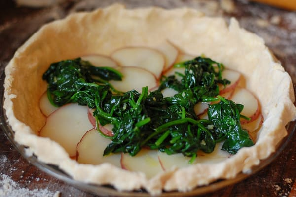 Vegetarian spinach potato quiche.   joeshealthymeals.com