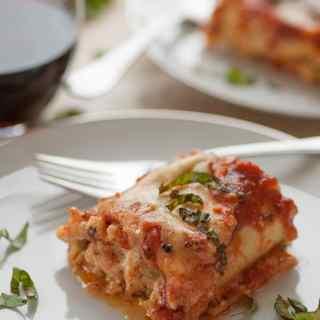 Italian Sausage Lasagna Roll Ups