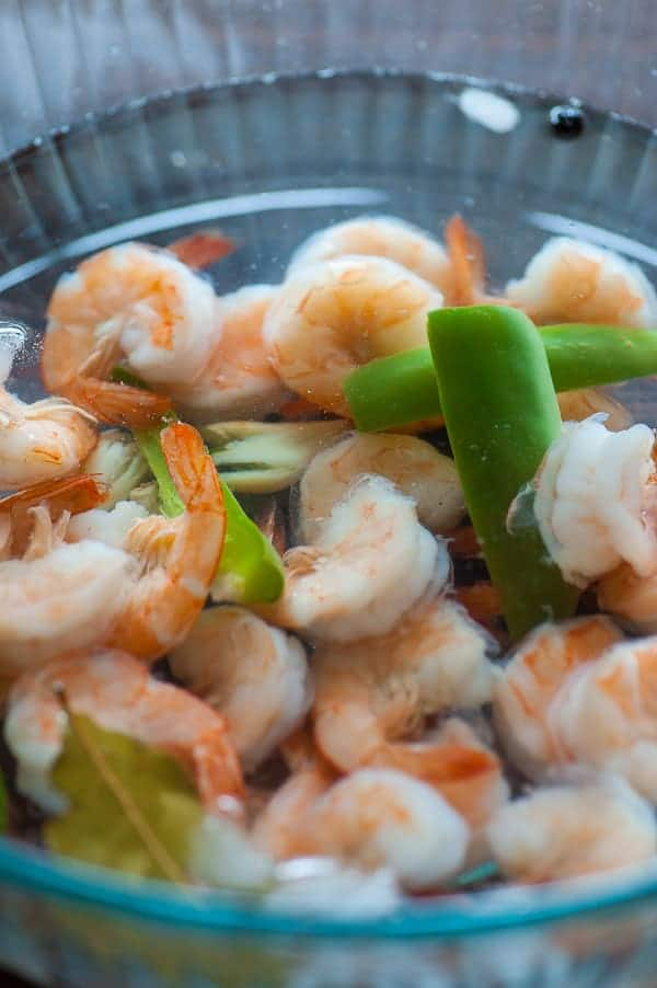 Shrimp cocktail. Mix up some homemade cocktail sauce and treat yourself to some delicious shrimp. | joeshealthymeals.com