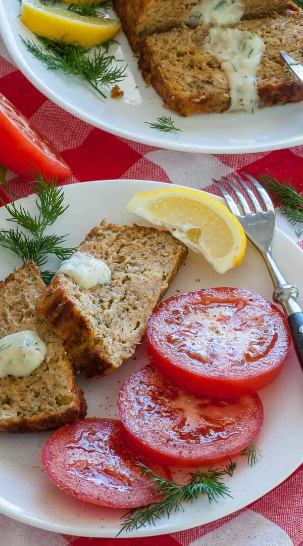 Tasty salmon loaf. Delicious healthy salmon loaf recipe full of vitamins and protein. It's a very economical dish to make. | joeshealthymeals.com