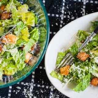 Traditional Caesar Dressing. Sensational recipe for tasty traditional Caesar dressing. | joeshealthymeals.com