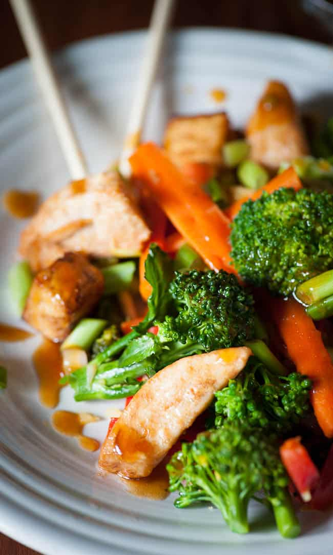 Close-up of vegetable stir fry. Tasty recipe for an Asian inspired meal. | joeshealthymeals.com