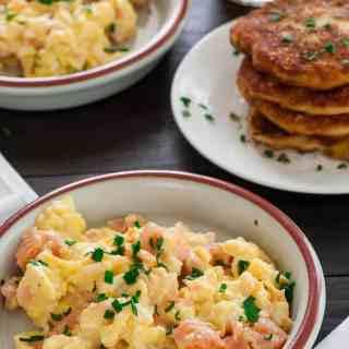 Creamy Scrambled Eggs with Smoked Salmon