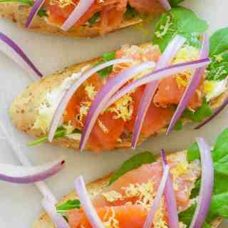 Smoked Salmon Appetizer with Arugula