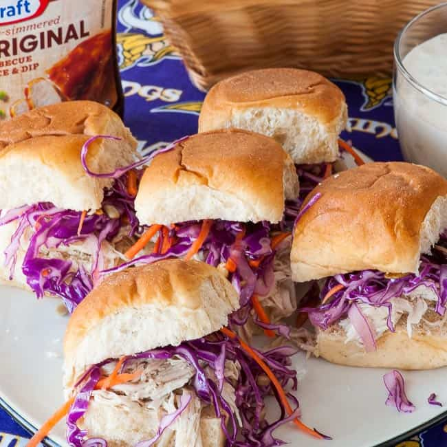Shredded turkey sandwiches ready to eat. | joeshealthymeals.com