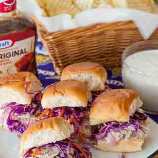 Hot turkey sandwiches for a crowd. Perfect for the big game party. | joeshealthymeals.com