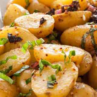 Pressure Cooker Warm Potato Salad
