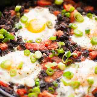 Easy Black Beans Rancheros