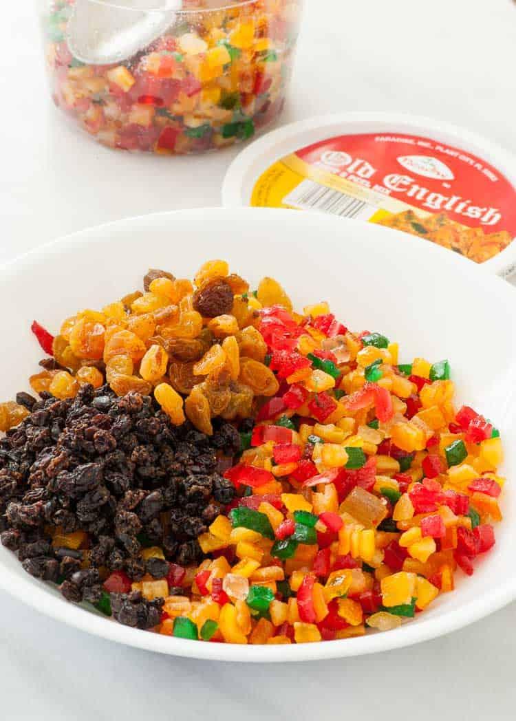 German stollen fruit ingredients.