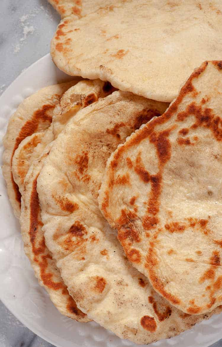 Easy naan bread recipe. | joeshealthymeals.com