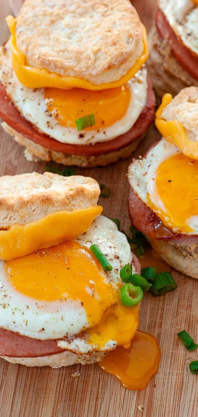 Buttermilk biscuit breakfast sandwich recipe.
