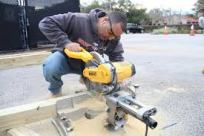 using a miter saw