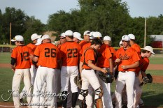 The Colby Eagles break from a huddle before their game against the Nickerson Panthers at the KSHSAA 4A Regional Baseball Championship at Legion Field in Hoisington, Kansas on May 16, 2012. (Photo: Joey Bahr, www.joeybahr.com)