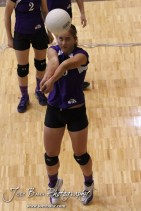 Wilson Lady Dragon Janell Ptacek (#15) warms up before the Wilson versus Weskan KSHSAA Class 1A Division II State Volleyball Pool II match with Weskan winning 26-24, 25-12 in Hays, Kansas on October 26, 2012. (Photo: Joey Bahr, www.joeybahr.com)