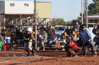during the Great Bend Lady Panthers versus Garden City Lady Buffaloes Softball game with Great Bend winning 8 to 1 at Veteran's Memorial Park West Field in Great Bend, Kansas on May 1, 2014. (Photo: Joey Bahr, www.joeybahr.com)