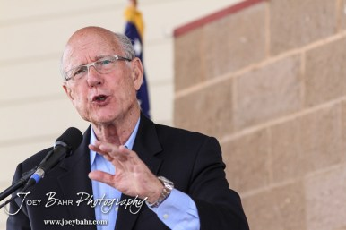 United States Senator Pat Roberts responds to a question during the WIBW 2014 Kansas State Fair Senate debate between United States Senator Pat Roberts and Greg Orman at Bretz-Young Injury Lawyers Arena on the Kansas State Fairgrounds in Hutchinson, Kansas on September 6, 2014. (Photo: Joey Bahr, www.joeybahr.com)