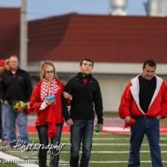 during the Hoisington Cardinals versus Lyons Lions High School Football game with Hoisington winning 54 to 13 at Elton Brown Field at Hoisington High School in Hoisington, Kansas on October 30, 2014. (Photo: Joey Bahr, www.joeybahr.com)