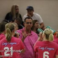 during the Otis-Bison versus Quinter High School Volleyball match with Otis-Bison winning at Otis-Bison High School near Otis, Kansas on September 16, 2014. (Photo: Joey Bahr, www.joeybahr.com)