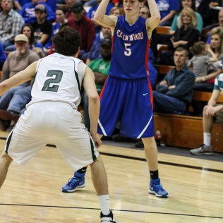during the 2A Sub-State Championship Game with the Central Plains Oilers and the Ellinwood Eagles with Central Plains winning 62 to 26 at Central Plains High School in Claflin, Kansas on March 7, 2015. (Photo: Joey Bahr, www.joeybahr.com)
