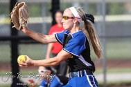 during the Great Bend Lady Panthers versus the Hutchinson Lady Salthawks softball game with Great Bend winning 6 to 2