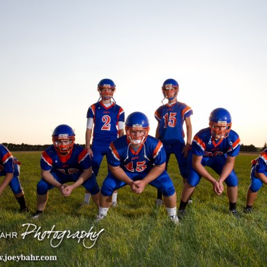 Otis-Bison High School Football Seniors photoshoot
