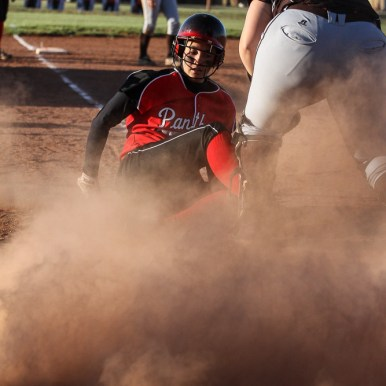 during the Great Bend Lady Panthers versus Garden City Lady Buffaloes Softball game with Great Bend winning 8 to 1