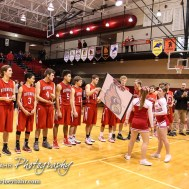 The Hoisington Cardinals receive the Championship Trophy and Bracket after the 2016 Hoisington Winter Jam Boys Championship Basketball game between the Hoisington Cardinals and the Minneapolis Lions with Hoisington winning 39 to 38 of Hoisington Activity Center in Hoisington, Kansas on January 23, 2016. (Photo: Joey Bahr, www.joeybahr.com)