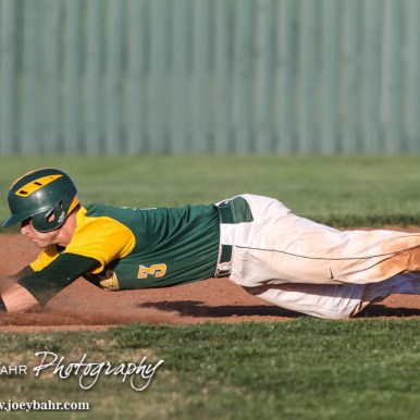during a Baseball double-header between the Salina South Cougars and the Derby Panthers