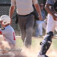 Great Bend Chief Payton Mauler (#12) slides to score a run in the Second Inning. The Great Bend Chiefs won the AAA Lower Zone 1 & 2 Tournament by defeating the Garden City Elite 10 to 4 at Great Bend Sports Complex in Great Bend, Kansas on July 18, 2016. (Photo: Joey Bahr, www.joeybahr.com)