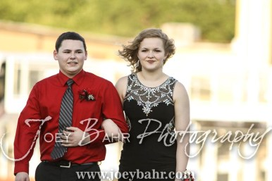 Senior Homecoming Candidates Aaron Miller and Ashtin Heath walk out for the Homecoming Festivities prior to the game. The Great Bend Panthers defeated the Dodge City Demons 34 to 27 at Memorial Stadium in Great Bend, Kansas on September 23, 2016. (Photo: Joey Bahr, www.joeybahr.com)