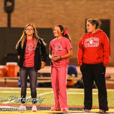 The Hoisington Cardinal Girls Tennis Doubles team is recognized for their high finish at State. The Hoisington Cardinals defeated the Lyons Lions to win the KSHSAA Class 3A District 15 Championship at Elton Brown Field in Hoisington, Kansas on October 27, 2016. (Photo: Joey Bahr, www.joeybahr.com)