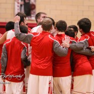 The Great Bend Panthers huddle up before the start of the game. The Hays Indians defeated the Great Bend Panthers by a score of 51 to 37 at Great Bend High School in Great Bend, Kansas on January 10, 2017. (Photo: Joey Bahr, www.joeybahr.com)
