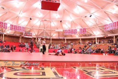 Competitors compete inside McPherson High School's The Roundhouse in the first ever Kansas High School Girls Wrestling Championship was held in McPherson, Kansas on February 11, 2017. (Photo: Joey Bahr, www.joeybahr.com)