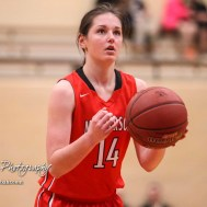 McPherson Lady Bullpup #14 Lakyn Schieferecke shoots a free throw attempt. The McPherson Lady Bullpups defeated the Great Bend Lady Panthers with a score of 69 to 38 at the Great Bend High School Fieldhouse in Great Bend, Kansas on February 7, 2017. (Photo: Joey Bahr, www.joeybahr.com)