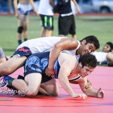 Athletes compete in the Grapple on the Gridiron held at Memorial Stadium in Great Bend, Kansas on June 29, 2018. (Photo: Joey Bahr, www.joeybahr.com)