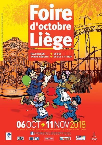 La foire d'octobre à Liège