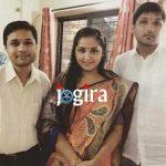 Kajal Raghwani with her brothers