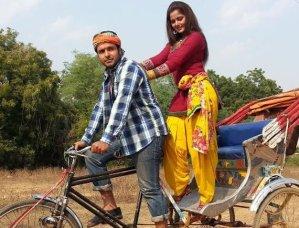 Vijay anand and Anjna Singh in Bihari Rikshawala