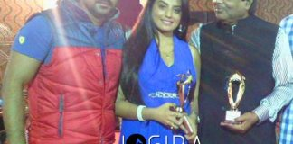 Akshra singh got best actress award