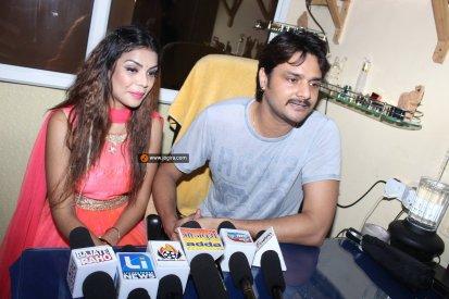 Aanchal soni and Bhojpuri actor Gaurav Jha