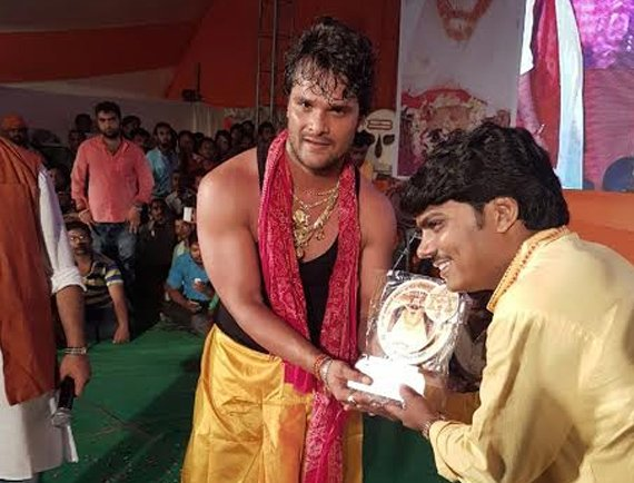 Bhojpuri Actor Khesari lal yadav in Baba kinaram birth anniversary