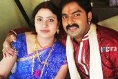 pawan singh with wife